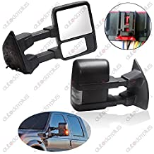 Scitoo Power Heated Led Turn Smoke Signal Lights Towing Mirror For 2008-2016 Ford F250 F350 F450 F550 Super Duty Side View Mirror Left Right Pair Set