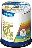 三菱ケミカルメディア Verbatim 1回録画用DVD-R(CPRM) VHR12JP100V4 (片面1層/1-16倍速/100枚)