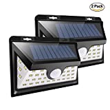 Lepord Solar Lights Outdoor,36 LED Solar Motion Sensor Lights With Wide Angle Lighting Waterproof Wall Lights Wireless Security Light For Garage,Front Door,Driveway,Yard(2 Packs)