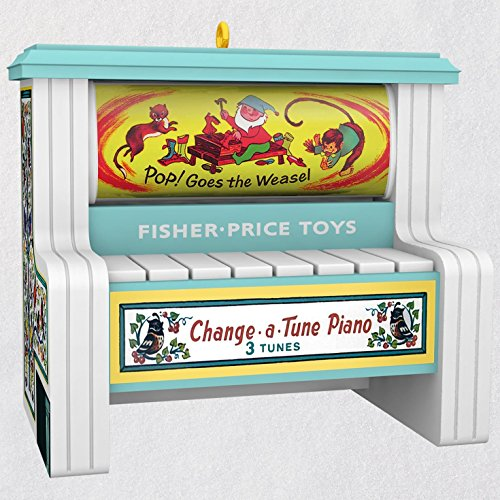 Hallmark Keepsake Christmas Ornament 2018 Year Dated Fisher Price: Change a Tune Piano Magic -
