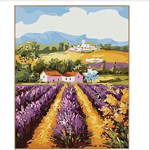 CZYYOU DIY Abstrakte Landschaft Landschaft Landschaft Bild Lavendel Ölgemälde Durch Zahlen Handzeichnung Auf Leinwand Färbung Nach Zahlen Home Decor Home, Ohne Rahmen, 40x50cm B07NNBKZD1 | Online  e115f0