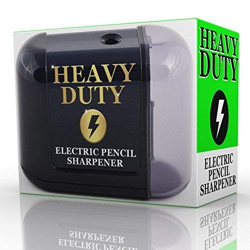 - Artist Choice Electric-Pencil-Sharpener Battery Powered Heavy Duty Helical Blade Pencil Sharpener