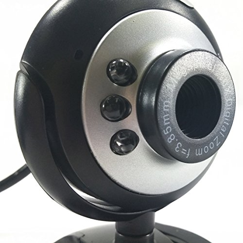 SciencePurchase 6 LED USB Webcam Camera W/Mic for Desktop PC Laptop - Megapixel WebCamera by Science Purchase (Image #2)