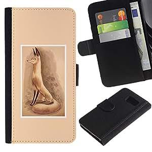 All Phone Most Case / Oferta Especial Cáscara Funda de cuero Monedero Cubierta de proteccion Caso / Wallet Case for Sony Xperia Z3 Compact // Cute Fox Red Drawing Watercolor
