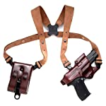 Galco Jackass Rig Shoulder System for 1911 5-Inch Colt, Kimber, Para, Springfield (Havana, Right-hand)