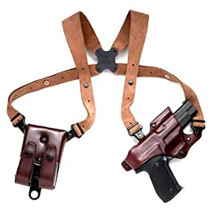 Galco Jackass Rig Shoulder System for Glock 17, 22, 31 (Havana, Right-hand)