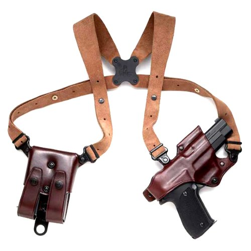 Galco Pistol Holsters (Galco Jackass Rig Shoulder System for 1911 5-Inch Colt, Kimber, Para, Springfield (Havana, Right-hand))