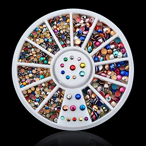1 Box Colorful 3D Jelly AB Acrylic Wheel Nail Stickers Decoration DIY Nail Art Tips Jewelry Rhinestones Manicure Tools 030 by DKjiaoso