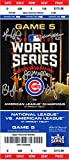 2016 Chicago Cubs Coaching Staff Signed Cubs 2016 World Series Game 5 4x14 Mini Mega Ticket w/5 Signatures