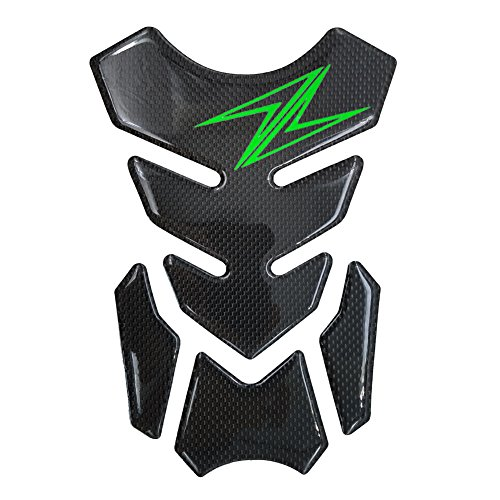 - Motorcycle Sticker 8.6 inches Real Carbon Fiber Fuel Gas Tank Protector Pad For Kawasaki Z650 Z1000 Z900 Z750 Z300 Z250