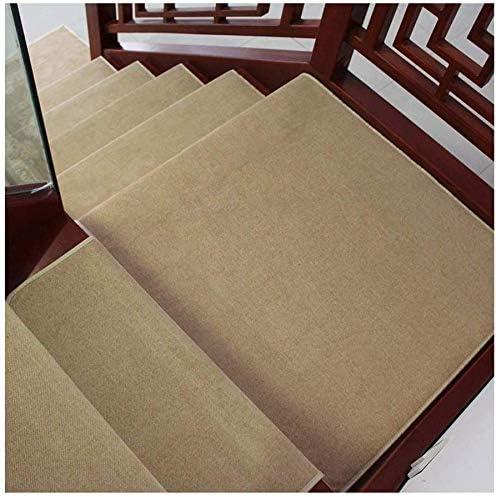ZHAS Peldaños de peldaños de peldaños, peldaños silenciosos Antideslizantes Peldaños de peldaños de Escalera Pegamento Libre Autoadhesivo Alfombra de Escalera de Alfombra Lisa para el hogar (Colo: Amazon.es: Hogar