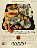 1929 Ad Mirro Aluminum Vapo-Seal Waterless Cooking - Original Print Ad