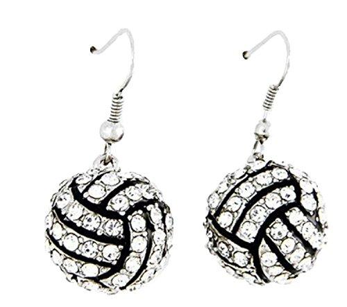Volleyball Earrings Rhinestone Kenz Laurenz product image