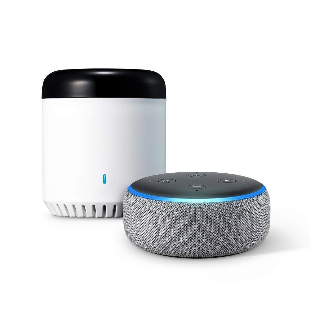 LinkJapan スマート家電コントローラ eRemote mini + Amazon Echo Dot (第3世代)、ヘザーグレー B07KKD1D3H