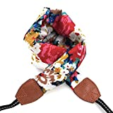 LIFEMATE Camera Strap,DSLR Camera Strap Universal Neck Strap ,Fabric Of Bohemia Floral Scarf Camera Strap For Women (ethnic flower1)