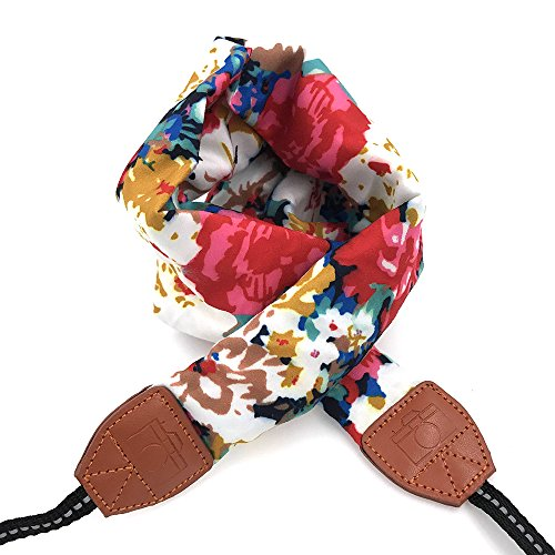 LIFEMATE Camera Strap,DSLR Camera Strap Universal Neck Strap ,Fabric Of Bohemia Floral Scarf Camera Strap For Women (ethnic flower1) (Camera Neck Digital Strap)