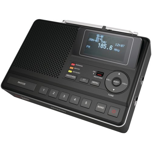 SANGEAN CL-100 DELUXE TABLE TOP AM/FM CLOCK RADIO WITH SAME WEATHER ALERT SANGEAN CL-100 DELUXE TAB