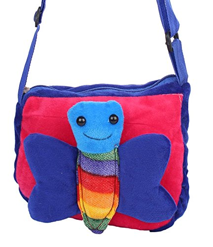 Envie Faux Fur Blue and Pink Coloured Zipper Closure Sling Bag  Amazon.in   Shoes   Handbags 41e88c52e2e70