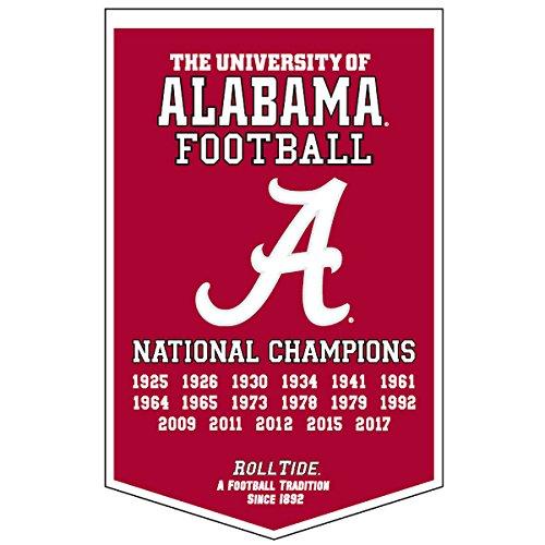 Ncaa National Championship Banner - Winning Streak University of Alabama Crimson Tide 17 Time National Champions Dynasty Banner