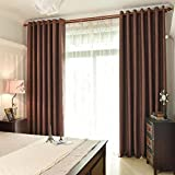 LIUZEMIN Solid color geometric pattern curtain,Blackout living room bedroom curtains Sold per panel-A 200x200cm(79x79inch)
