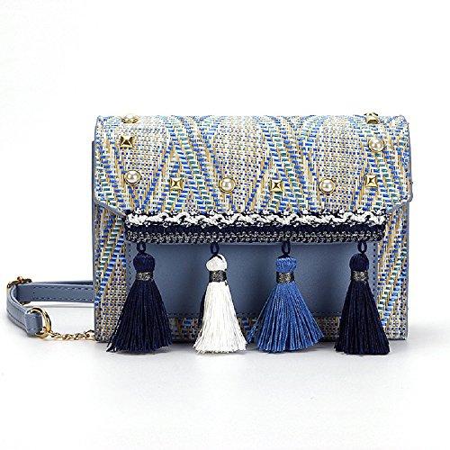 Bleu Sac bandouliere a ZHRUI Bleu coloré dIqxTqSwO