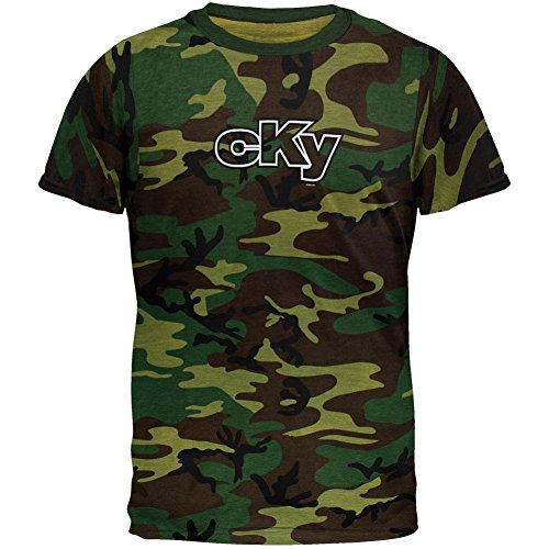 Camo Outline Tee - Old Glory Cky - Mens Corp Outline Camo Ringer T-shirt Small Dark Green