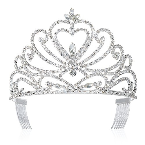DcZeRong Tiara Crown Queen Crowns Prom Tiara Wedding Tiaras Prom Crowns Women Tiaras Bridal -