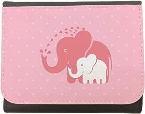 محفظة جلد  بتصميم كن صديقا لطفلك ، مقاس 12cm X 10cm