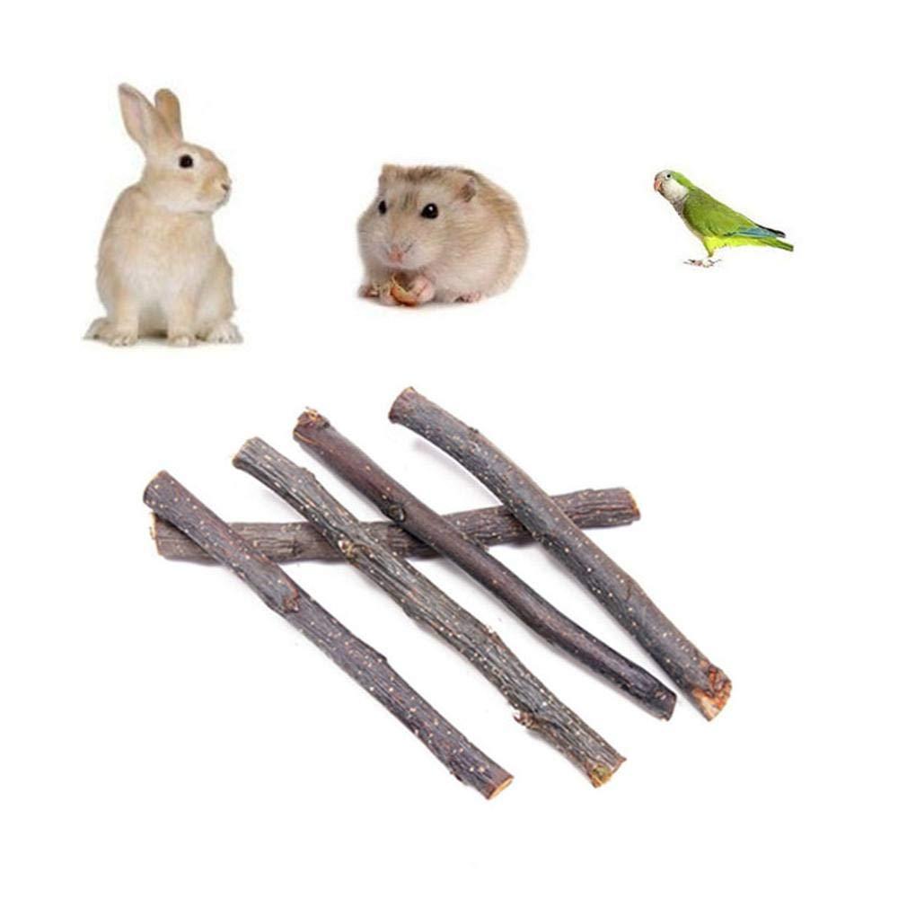 Apple Sticks 200g Small Animals Molar Wood Chew Toys for Rabbits Chinchilla Guinea Pigs Cavia Cobaya Parrot Hamster Apple Chew Sticks Toys Treats