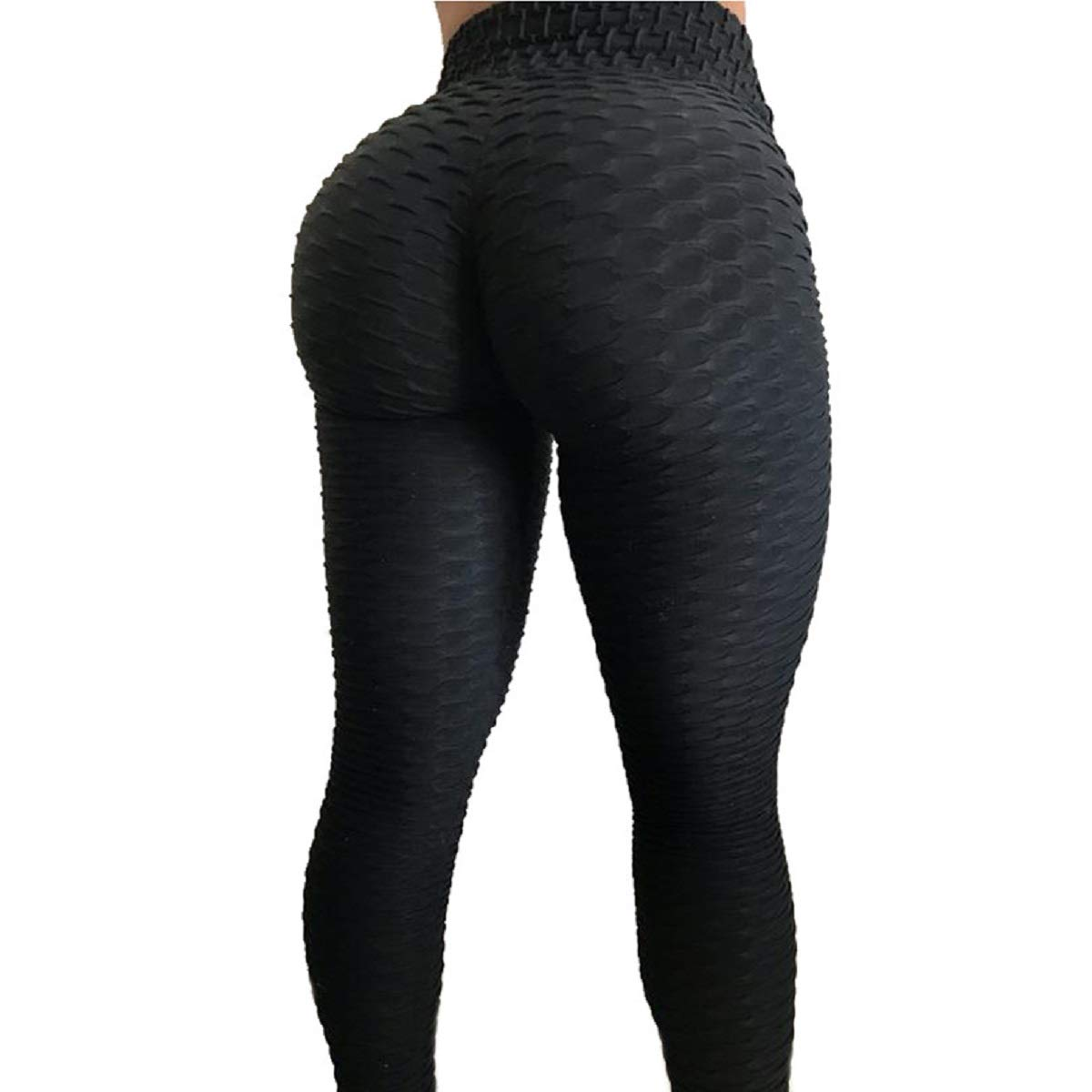 2de22f06251f8 Amazon.com: Women's Workout Leggings High Waist Yoga Tummy Control Booty  Pants Running Butt Lift Tights Plus Size: Clothing