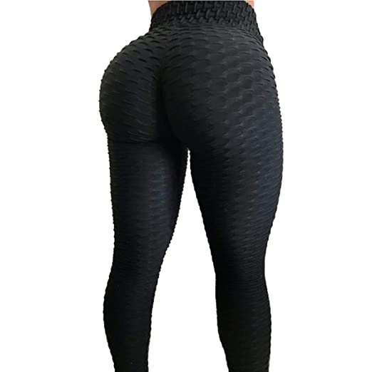 f1e649b9e5c Women s Workout Leggings High Waist Yoga Tummy Control Booty Pants Running Butt  Lift Tights Plus Size