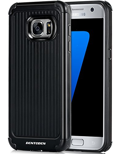 Slim Rugged Shockproof TPU Case For Samsung Galaxy S7 Edge (Black) - 9