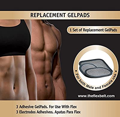 THE FLEX BELT GEL PADS for Abdominal Toning System (one set) from The Flex Belt