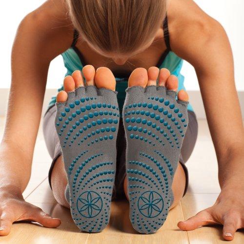 Gaiam Yoga Toeless adhérente chaussettes