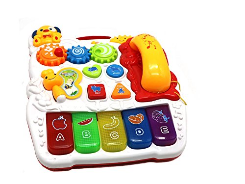 [Ver-Baby Childrens Kids Musical Activity Center Table with Telephone Piano Great Educational play for Toddlers &] (Animals That Start With The Letter A)