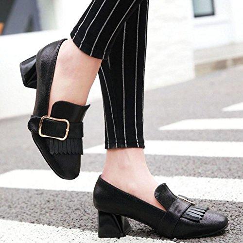Moyen Brogue black Bloc Femmes Chaussures 2 Melady Talon SX05Aqxnw