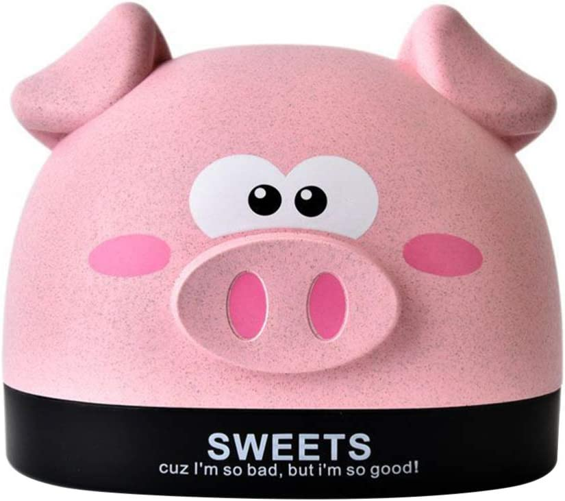 Garneck 1PC Cute Pig Tissue Box Cover Holder Napkin Holder Facial Tissue Dispenser Box for Home Office Car Decoration New Years (Pink)