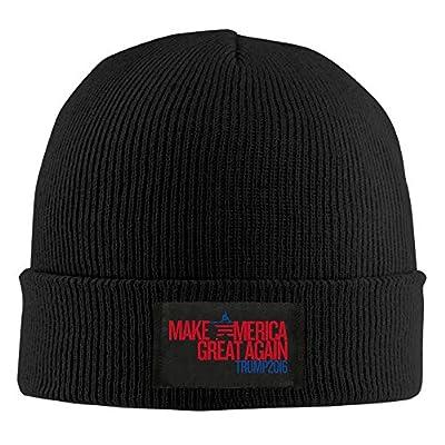 Unisex LunaCpt TRUMP 2016 Make America Great Again Lightweight Beanies Hat Black
