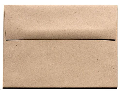- Kraft Fiber Speckle Fiber A9 (5-3/4-x-8-3/4) Envelopes 250-pk - 104 GSM (28/70lb Text) PaperPapers Holds Letter Paper Folded in Half Large Invitation, Social and DIY Greeting Envelopes