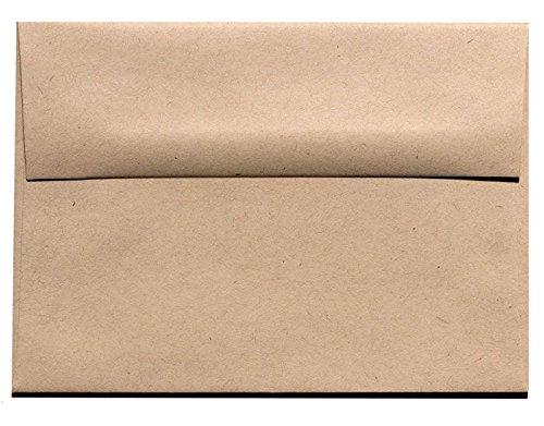 Fiber 70 Lb Text Paper - Kraft Fiber Speckle Fiber A9 (5-3/4-x-8-3/4) Envelopes 250-pk - 104 GSM (28/70lb Text) PaperPapers Holds Letter Paper Folded in Half Large Invitation, Social and DIY Greeting Envelopes