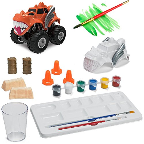 Prextex Paint Craft, Make And Paint Your Own Monster Truck