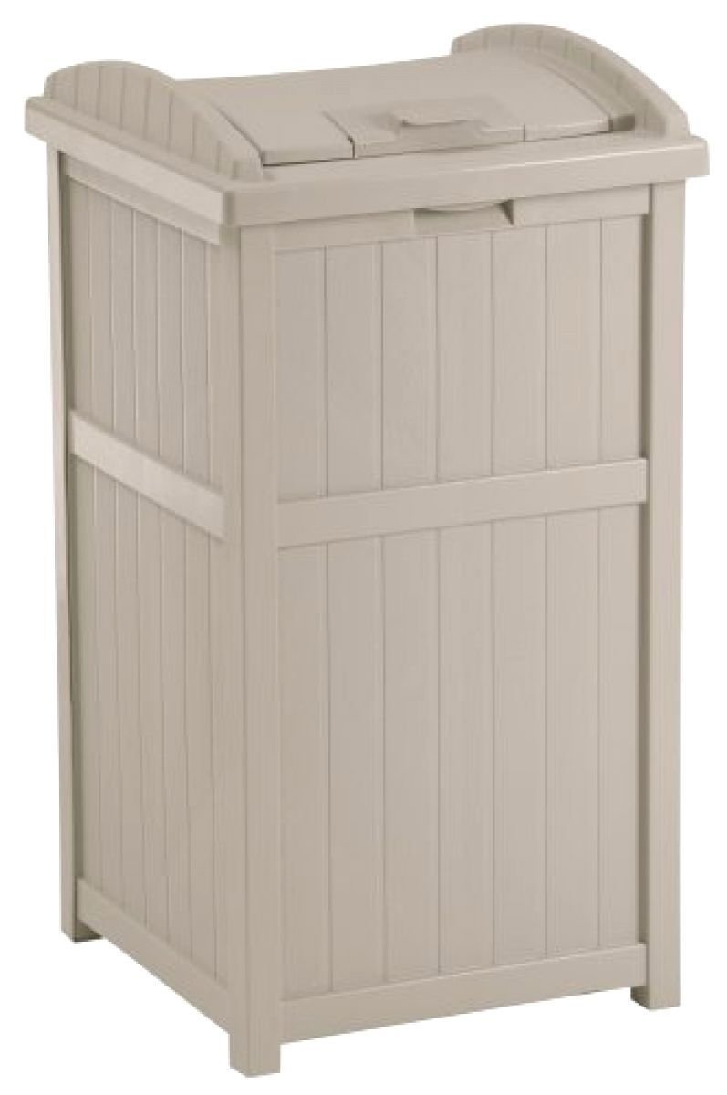 Large Capacity 30 Gallon Outdoor Hideaway Wooden Vintage Trash Can Garbage Bin Waste Container Locking Lid