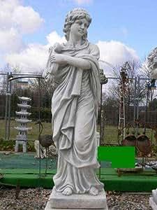 Estatua Figura de mujer con arpa piedra piedra fundido + Incluye instrucciones de cuidado Original de piedra figuras Mundo