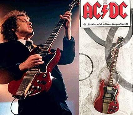 Llavero de guitarra Gibson Sg Cherry Trem Angus Young AcDC: Amazon ...