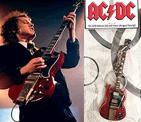 Llavero de guitarra Gibson Sg Cherry Trem Angus Young AcDC: Amazon.es: Instrumentos musicales