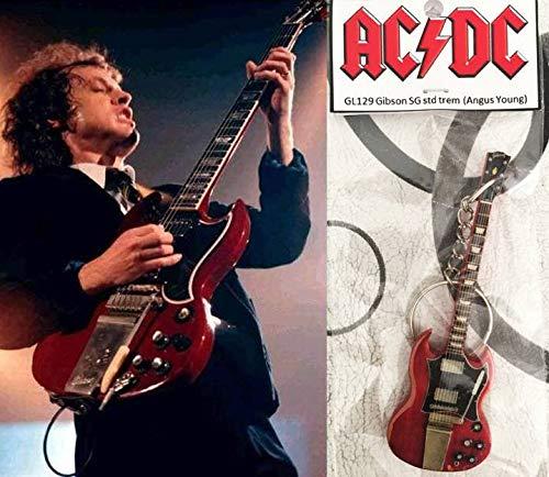 Llavero de guitarra Gibson Sg Cherry Trem Angus Young AcDC ...