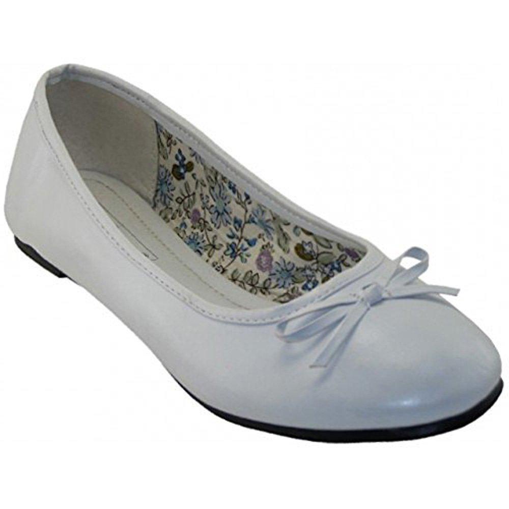 Easy USA Womens Ballerina Ballet Flats White