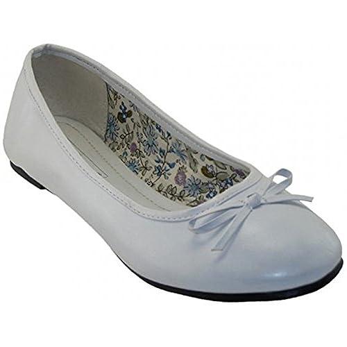 f5f914049b1be Easy USA Womens Ballerina Ballet Flats White