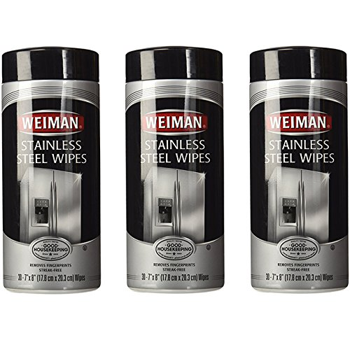 Weiman Stainless Steel Wipes, 30 ct-3 pk