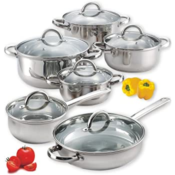 Cook N Home 12-Piece Stainless Steel Set